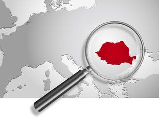 Landkarte *** Europa Rumänien