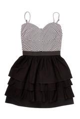 black and white minidress