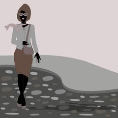 donna che passeggia