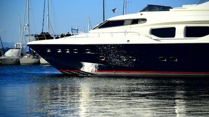 Luxury yacht in a port