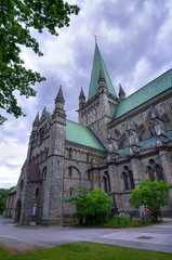The North side of Trondheim cathedral building