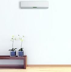 Interno con aria condizionata