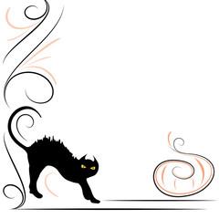 Gatto nero e zucca