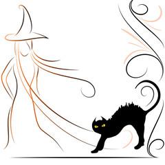 Gatto nero e strega