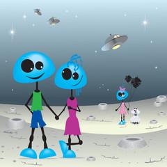 Familia extraterrestre