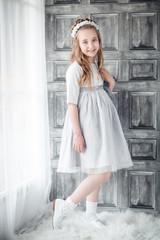 retrato niña estilo retro