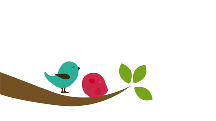 Birds in love, Animation Design, HD 1080