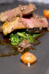 Meats - Grilled Sirloin Steak, Spinach  And Shallot Sauce
