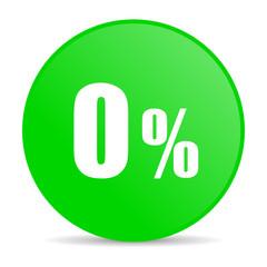 0 percent internet icon