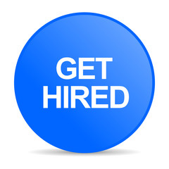 get hired internet blue icon