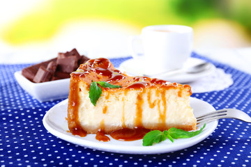 Cheese cake  in plate
