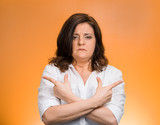 confused woman indecision concept uncertain in life