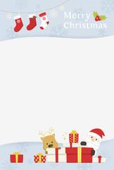 サンタとトナカイ メッセージ縦