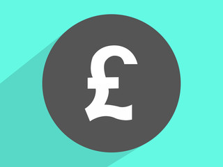 Pound sterling currency signs  ,Flat design style