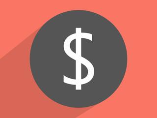 Dollar sing. Single flat icon
