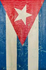 Grungy Cuban Flag a National Symbol