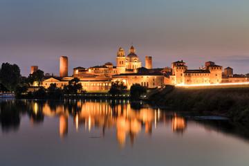 Mantua Castle Water sunset