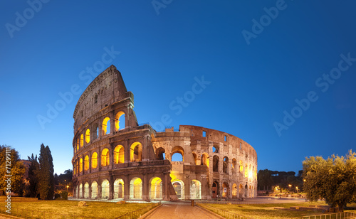 Aluminium Rome Colosseum at night .Rome - Italy