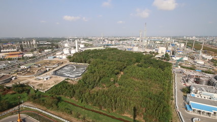 View of industrial factory
