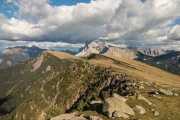 Sass Rigais range in Dolomites