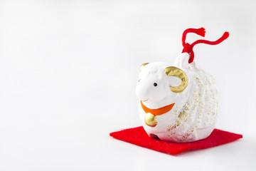 羊の正月飾り
