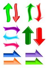 Flechas para diseño web o aplicaciones
