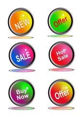 Íconos, botones comerciales