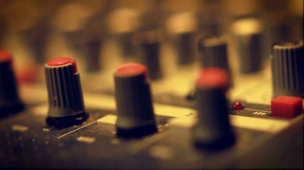 Rack Focus of Sound Board Knobs