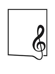 Notenschlüssel Musik Rahmen Umrandung