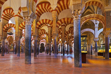 Great Mosque Mezquita interior in Cordoba Spain