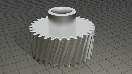 Helical gear - Toothed wheel