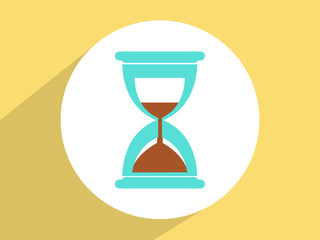 Sand clock  Glass timer symbol ,Flat design style