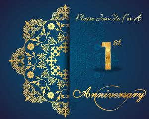1 year anniversary golden label, 1st anniversary
