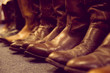 brown leather boots - 71301768