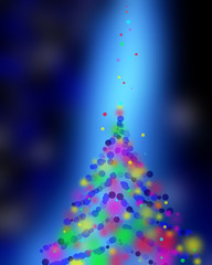 Blue Festive Christmas elegant abstract background colorful boke