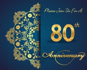 80 year anniversary golden label, 80th anniversary
