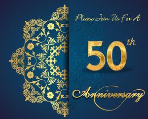 50 year anniversary golden label, 50th anniversary