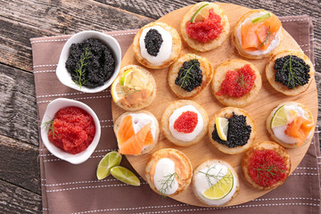 canapes, finger food