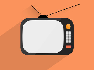 Retro tv ,Flat design style
