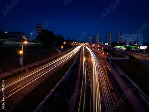 canvas print picture Night Traffic