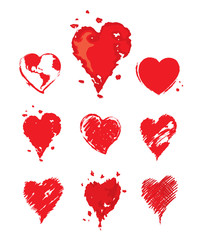Collection vector illustrations -- heart