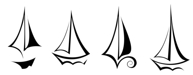 vector flat design sailing yacht boat transportation icon