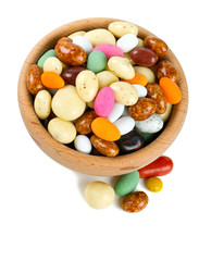 sugar and chocolate covered nuts