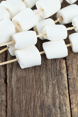 marshmallow ready to be cooked on bbq