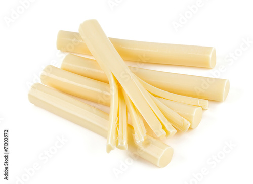 Staande foto Zuivelproducten string cheese isolated on white