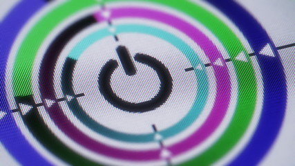 Reset icon on the screen. looping.