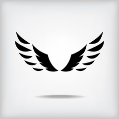 Wing silhouette icon