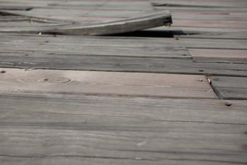 Marode Holzterrasse