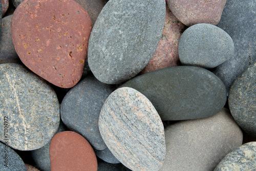canvas print picture colorful pebbles
