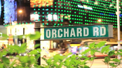 Orchard Road Business District City Time Lapse